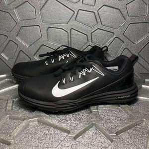 Nike LUNAR COMMAND 2 Golf Spikes BLACK/WHITE